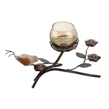 Partridge BIRD NEST TEA LIGHT Candle Holder Iron Gallery Gifts Decor New... - $13.18