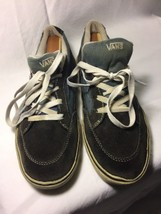 VANS Skateboard Shoes OFF THE WALL Girl Boy 7 Blue/Black Suede Canvas - $8.59