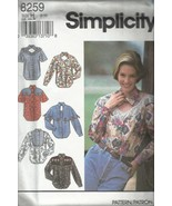 Simplicity Pattern #8259-Misses Western Style Shirts  Sz 6-10    - $4.95