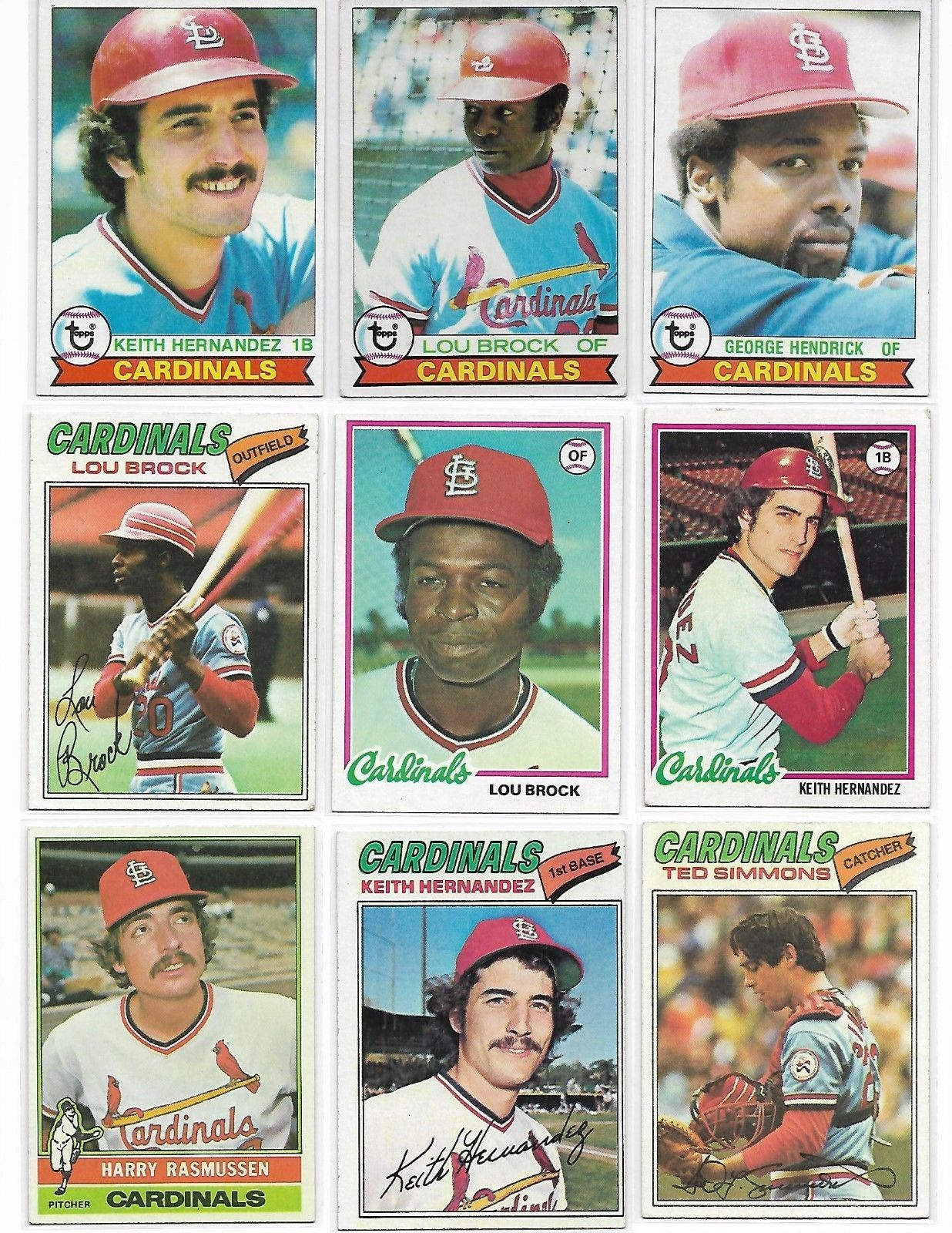 Vintage 1970's Topps Baseball St. Louis Cardinals 16 Card Lot