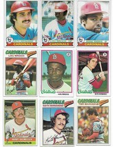 Vintage 1970's Topps Baseball St. Louis Cardinals 16 Card Lot image 1