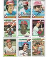 Vintage 1970's Topps Baseball St. Louis Cardinals 16 Card Lot - $14.84