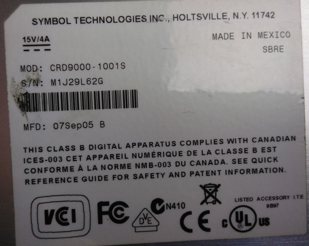 Symbol Technologies Crd9000 Mc9060 Charging And 36 Similar Items