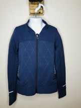 IVIVVA by Lululemon Scuba Jacket zip up sweatshirt Purple Reflective Sz 8y - $25.74