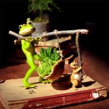 LOULONG® Cute Frog Squirrel Miniature Micromodel Ornament SucculentBonsa... - $45.85 CAD+