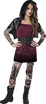 Incharacter Street Vampira Vampiro Tatuato Tween Ragazze Costume Hallowe... - €26,03 EUR