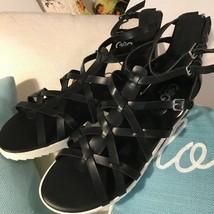 GUESS GBG Zipper Ankle Sandals Women Black - Size 10 - $25.23