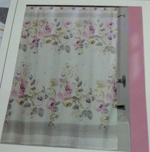 """New Creative Bath Fabric Shower curtain 72"""" x 72"""" Cabbage roses pink Prints - $22.76"""