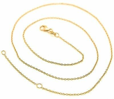 18K YELLOW GOLD CHAIN 1.0 MM ROLO ROUND CIRCLE LINK, 15.7 INCHES, MADE IN ITALY