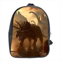 backpack school bag dinosaur paleontology triceratops diplodocus book student - $42.00