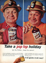 Vintage Ad   Schlitz Beer  Take A Pop Top Holiday      2.5 x 3.5  Fridge... - $3.99