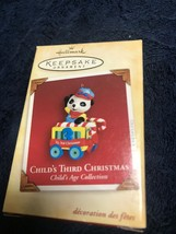 Hallmark Child's Third Christmas Bear on Train Ornament Age Collection Y... - $10.88