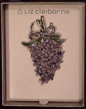 NIB LIZ CLAIBORNE ENAMEL FLORAL BOW CLUSTER BROOCH PIN - $24.95