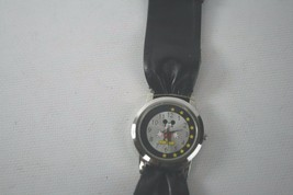 Disney Mickey Mouse Silver/Black Dial Black Strap  Unisex Watch MK1041 - $9.99