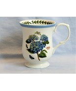 Portmeirion Hydrangea Botanic Garden Terrace Coffee Mug Tea Cup Blue Border NWT - $12.00