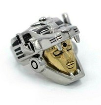 Han Cholo Silver & Gold Plated Surgical Stainless Steel Voltron Ring NEW image 2
