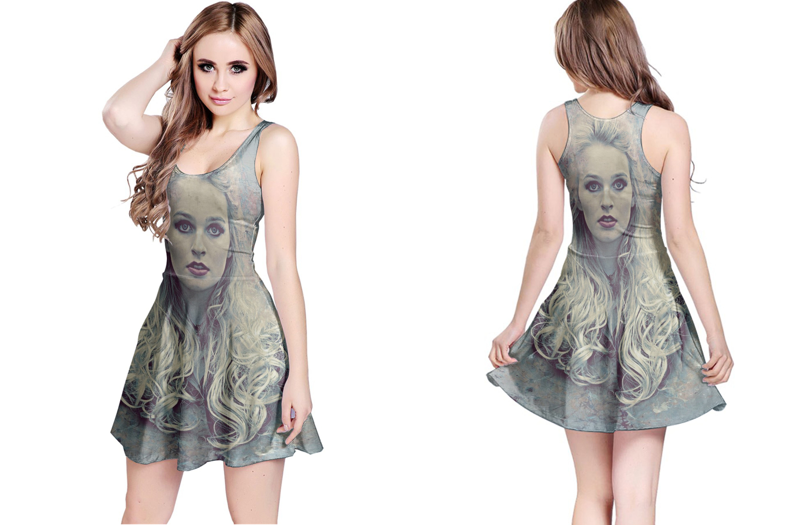 Retro art photoshop action reversible dress