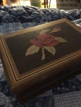 Keepsake Box Inlaid Rose Brazil 7.5 X 5.5 X 3  (me) - $34.65