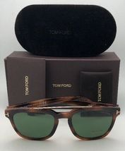 New TOM FORD Sunglasses HOLT TF 516 53N 54-19 145 Tortoise & Gold w/Green Lenses image 11
