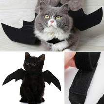 Fashionable Black Bat Wings Vampire Halloween Pet Dog Cat Costume Fancy Cos - $8.41+