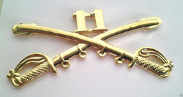 11TH Cavalry Insignia Swords Military Veteran Army Hat Pin 16202 (Large) Ho Lp - $7.91