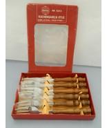 Vintage Rustika 6 Cake Fork Set – Stainless Steel - NR 6203 - Germany - $32.50