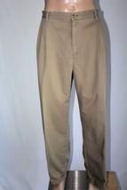 Tommy Hilfiger Men's 42 X 32(31) Khaki Pleated & Cuffed Pants Chinos Euc - $28.05
