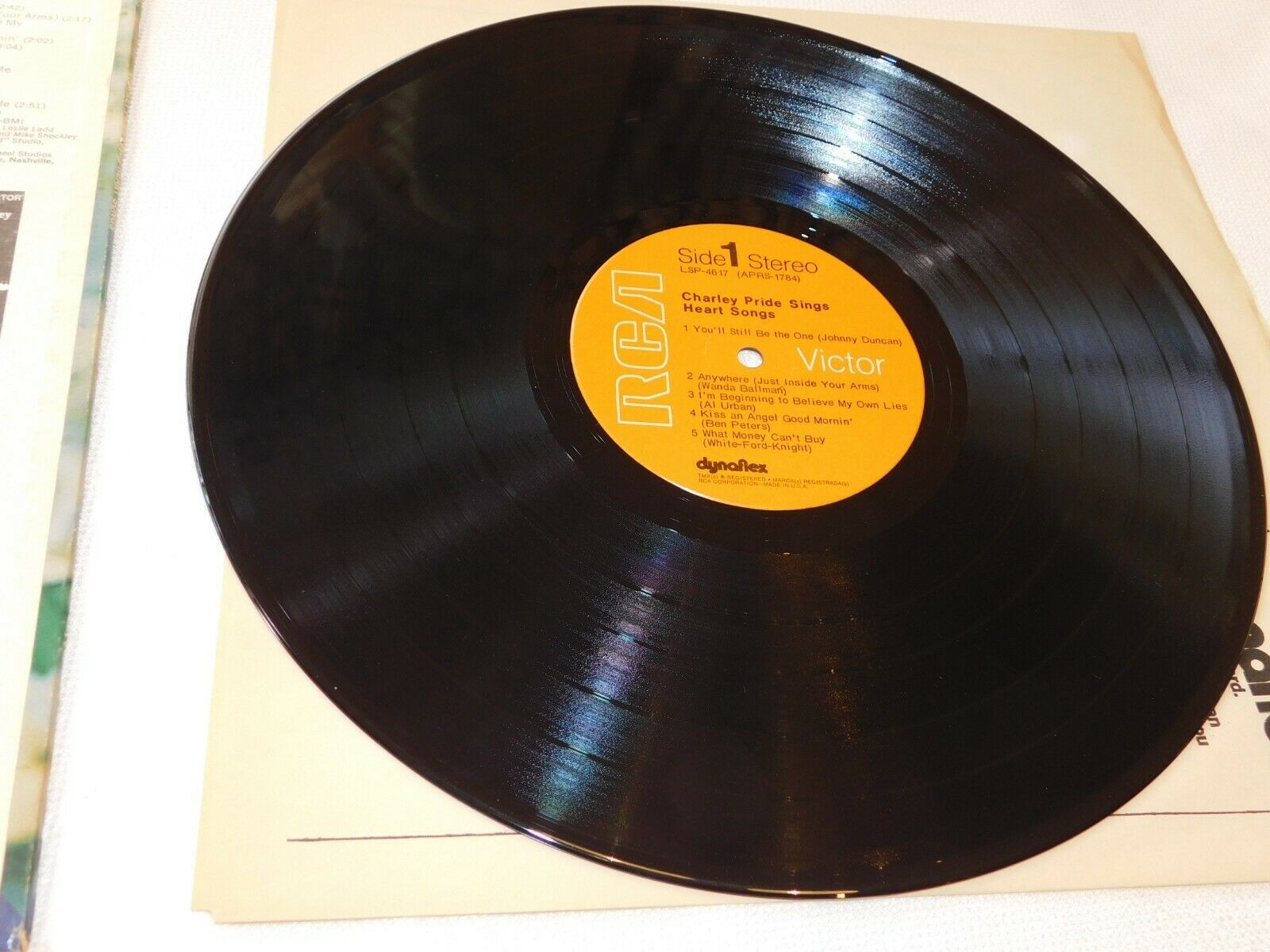 Charley Pride Sings Heart Songs Record LP RCA Victor LSP-4617 Stereo Once Again