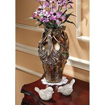 Art Nouveau Style Flowing Gowns Dancing Ladies Faux Bronze Finish Urn Vase - $138.54