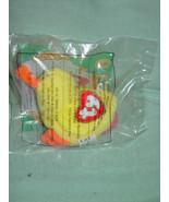 Ty Teenie Beanie Babies Quacks The Duck  # 9 McDonald 1996 Black Tag Label - $44.00