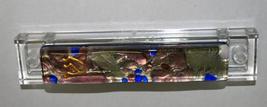 Murano Glass Handmade Mezuzah Case w 6.5 cm Scroll Silver Foil Lavender Blue image 4