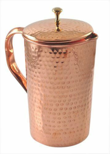 Pure Copper Jug With Lid Hand Hammered For Health Benefits Capacity 50.72 Ounce