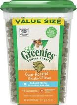 FELINE GREENIES Natural Dental Care Cat Treats Oven-Roasted Chicken 9.75 oz - $32.63