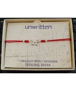 Unwritten Sterling Silver Bow Bracelet Red Rope Friendship - $16.65