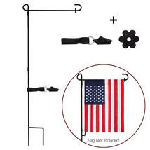 Anley Wrought Iron Garden Flag Stand Reinforced Garden Flag Pole Holder ... - $15.79