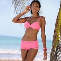 Womens Padded Bikini Set Boy Shorts Swimwear Bathing Suit Swimsuit Beachwear