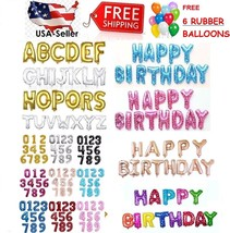 "16""/30"" Large Foil Letter Number Balloons Birthday Wedding Party + Free ... - €0,85 EUR+"