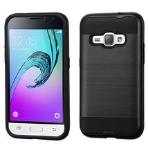 Matte Hybrid Armor Cover Case for Samsung Galaxy J1 2016 /  Amp 2 - Black  - $4.99