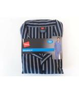 NWT Mens Hanes Woven Pajama Set Stretch Elastic Waist Grey Stripe S M L ... - $21.95
