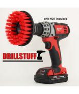 "Heavy Duty 5"" Round Scrub Brush with Power Drill Attachment - $17.35"