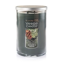 Yankee Candle Balsam and Cedar 22 Oz Jar Double 2 Wick Candle - $21.28
