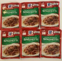 6 McCormick ITALIAN MUSHROOM SPAGHETTI Sauce Mix 1.5 oz 6/21 11/21 1/22 ... - $22.50
