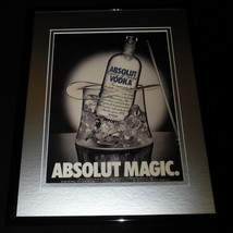 1989 Absolut Magic Vodka Framed 11x14 ORIGINAL Advertisement - $34.64