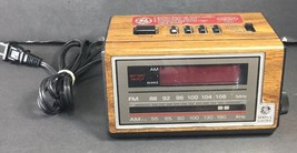 GE General Electric AMFM Alarm Clock Radio 7-4601A Woodgrain As Is Part No Radio - $11.57