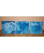Original Modern Contemporary Abstract Painting Trio, Set of Three  - $150.00