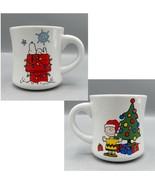Snoopy Charlie Brown Christmas Coffee Mug Doghouse Tree Lights Vandor Pe... - $31.80