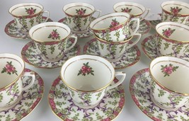 Royal Worcester Cradley set of 12 demitasse cups & 11 saucers - $150.00