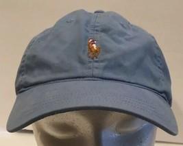 Polo Golf Ralph Lauren Light Blue Cap Hat Pony Adjustabe Strapback Cotton - $18.69