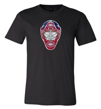 Montreal Canadiens Goalie Mask front logo Team Shirt jersey shirt - $12.19+
