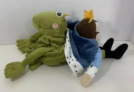 IKEA KVACK Prince / Frog Plush 2 in 1 blue king crown green frog - $4.94